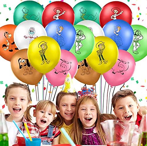 Globos Fiesta Cumpleaños Decoración Dibujos Animados 12inch Globos de Latex con Confeti...