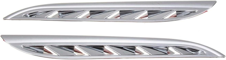 EMEI 2pcs Lateral De Ventilación De Ventilación De Ventilación De Ventilación Cubiertas De Ajuste para Suzuki Grand Vitara 2006-2013 Cubiertas De Reemplazo (Color : Silver)