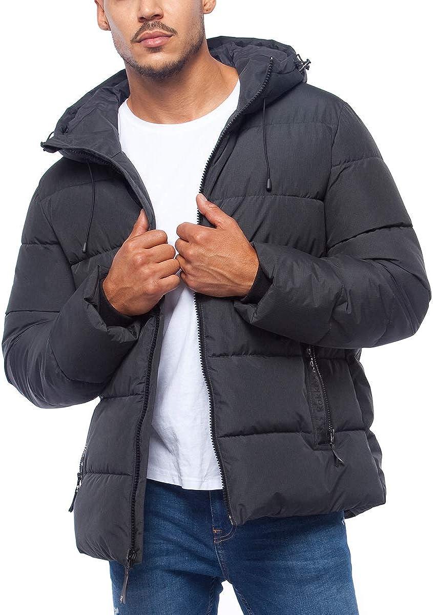 RokkaRolla 1 year warranty Men's Heavy Quilted Bubble Winter Coat Puffer supreme Jacket