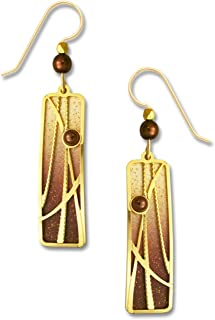 Adajio by Sienna Sky Vanilla Chocolate Column Earrings 7639