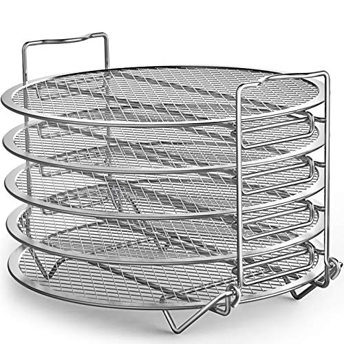 Goldlion Dehydrator Rack Compatible with Instant Pot 6 Quart Stainless Steel Stand Accessories for Air Fryer Crisp Lid