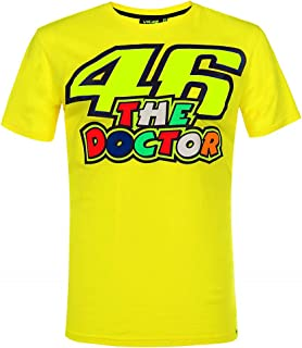VR46 Valentino Rossi 46 - Camiseta oficial para hombre, color amarillo