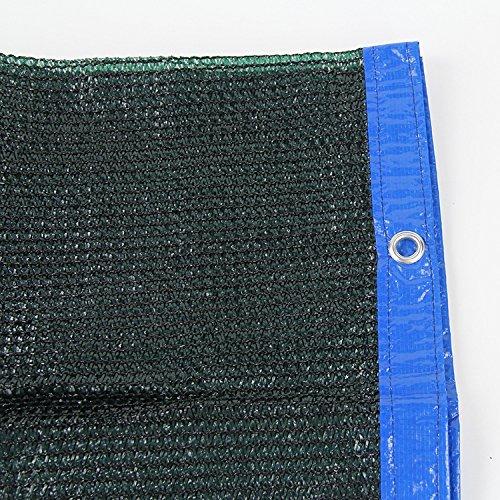 80% schwarz Sonne Schatten Tuch Sichtschutz Panel mit Ösen–UV-Beständig Stoff für Terrasse/Pergola/Wohnmobil-Vorzelt