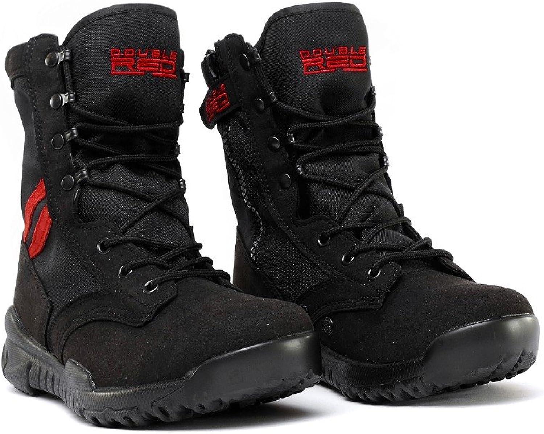 Double rot Herren Outdoor Schuhe schwarz rot Desert Schwarz Stiefel Stiefel