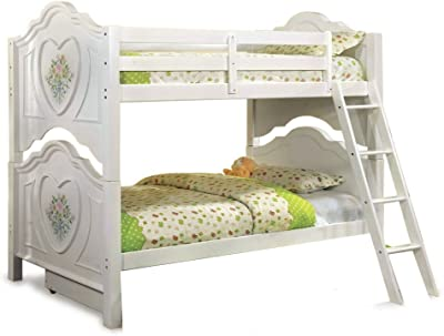 247SHOPATHOME IDF-BK119-TR452 bunk-beds, Twin, White