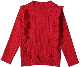 K-Youth Ropa de Punto Niña Casual Caliente Camiseta Manga Larga Niños Suéter Niña Jersey para Niñas Blusa de Punto Niño In...