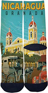 Men's Women's Custom Nicaragua Granada Travel poster Socks 3D Print Novel Creative Casual Crew Socks