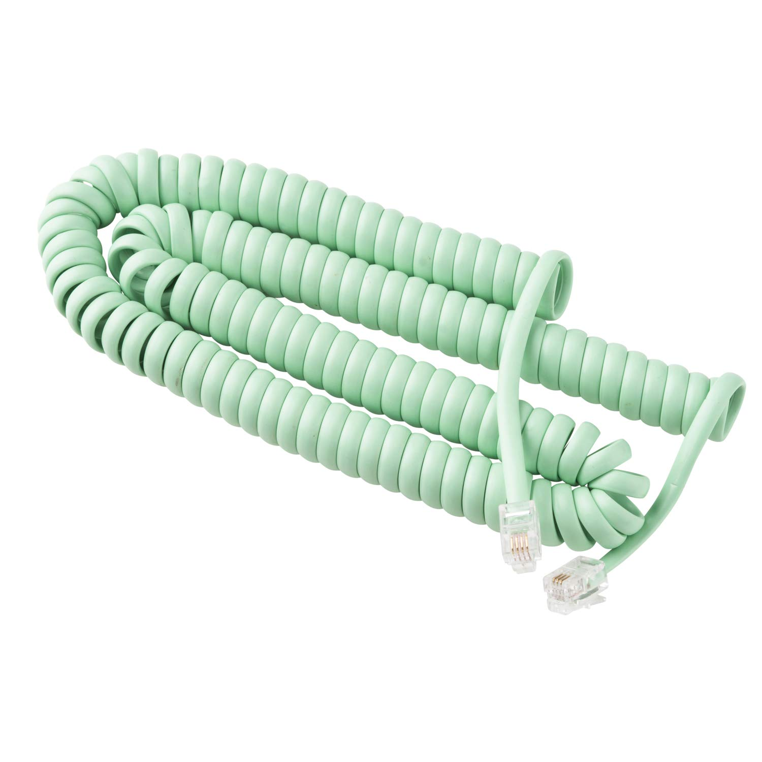 Phone Cord for Landline Phone – Tangle-Free, Curly Telephones Land Line Cord – Easy to Use + Excellent Sound Quality – Phone Cords for Landline in Home or Office (25ft) Color: Earth Day Green