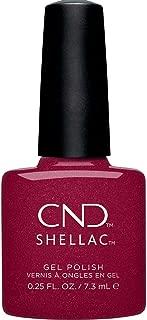 CND Shellac Rebellious Ruby Gel Polish & Shellac Shimmer Red