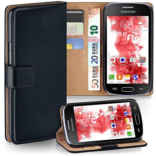 MoEx® Funda Cartera [protección 360°] Compatible con Samsung Galaxy Trend Lite | Cierre magnético, Noir