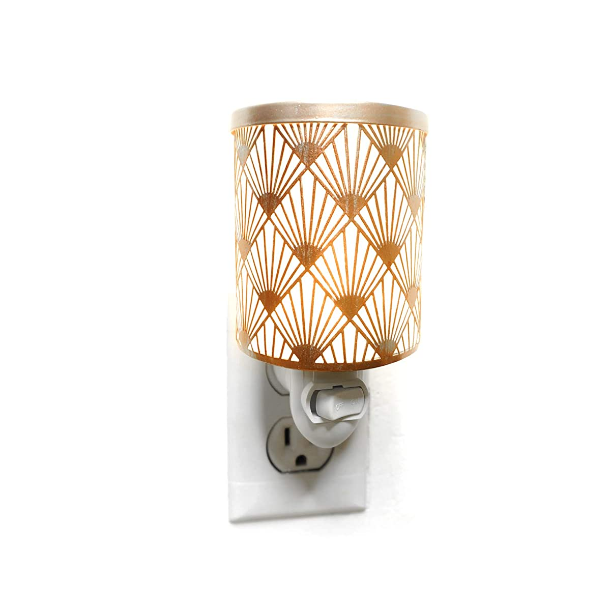 K-Cliffs Peacock Rose Gold Plug-in Fragrance Warmer Diffuser for Scented Wax Cubes & Essential Oils