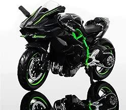 Greensun 1:18 Scale Kawasaki Ninja H2R Motorbike Race Cars Mini Motorcycle Vehicle Models Office Toys Gifts for Kids