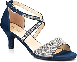 Amazon.co.uk: Navy Diamante Shoes