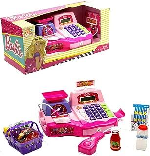 Vardem Barbie Oyuncak Yazar Kasa Oyun Seti Mikrofonlu Aksesuarl? Sesli