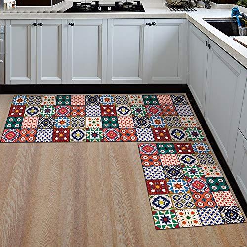 Ommda Alfombras Cocina Antideslizante Lavables Decorativa
