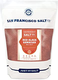 Red Alaea Hawaiian Sea Salt - 5 lb. Bag Fine Grain by San Francisco Salt Company