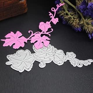 Paper Album Decor Cutting Dies, Lotus.flower Christmas Halloween Themed Metal Stencils Scrapbooking Embossing DIY Handcrafts for Greeting Card Making (C)