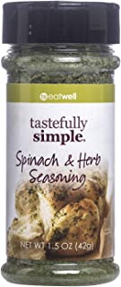 Tastefully Simple Spinach & Herb Seasoning - Perfect on Potato Salad, Pasta Salad, Eggs and Quiche - 1.5 oz