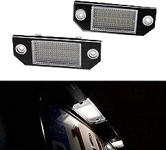 YUGUIYUN Luces de matrícula LED de iluminacion 18 LED Error Free Xenon Blanco Bombilla de Coche para F-ORD Focus C-MAX MK2 2003-2008(2pcs)