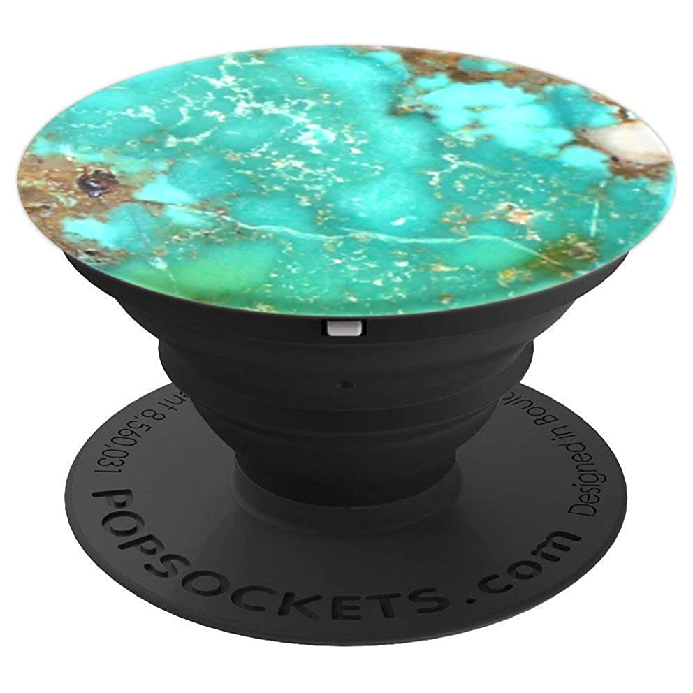 Turquoise Stone Slab - PopSockets Grip and Stand for Phones and Tablets