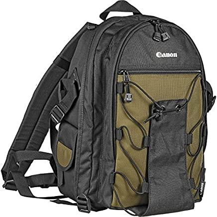 Canon Deluxe Photo Backpack 200EG for Canon EOS SLR Cameras (Black with  Green Accent) 20c40cdd80f96