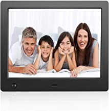 Flyamapirit Digital Picture Frame 8 inch Electronic Digital Photo Frame with High Resolution 1024x768 IPS LCD and Motion Sensor/1080P 720P Video Player/Calendar/Time/Remote Control/Best for Gift