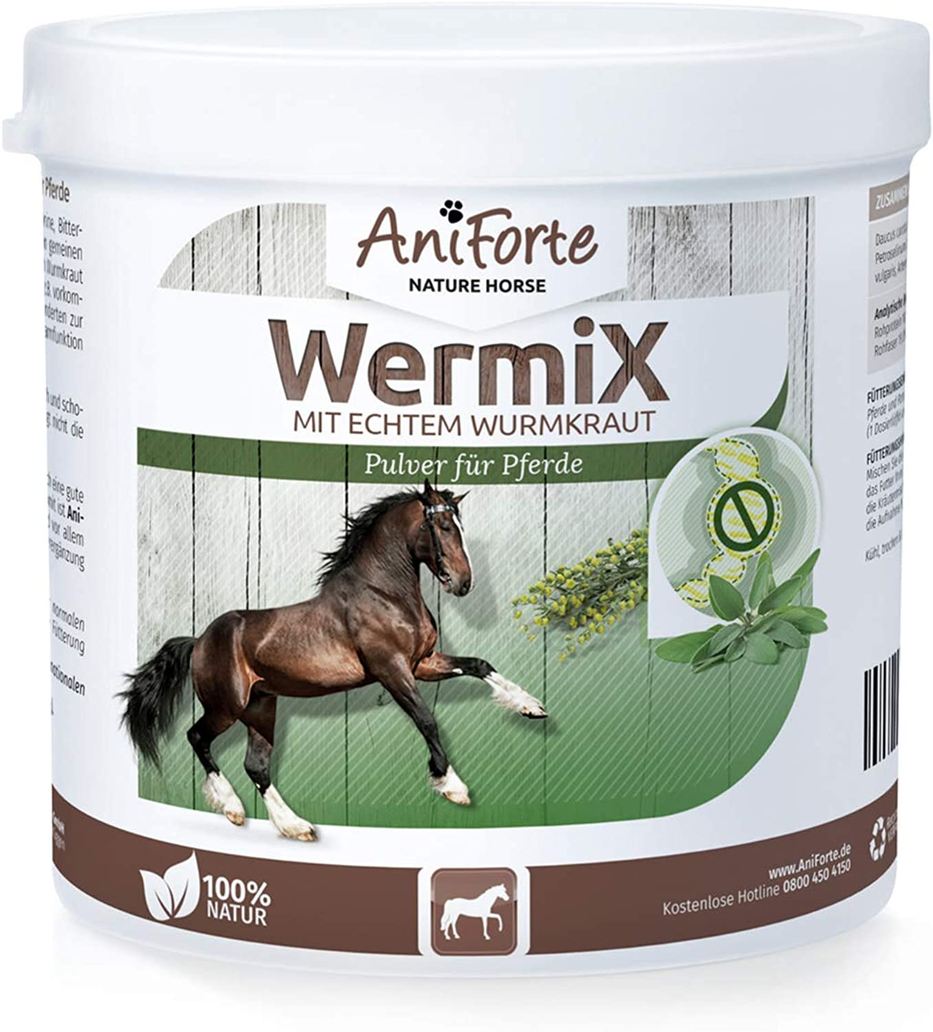 AniForte Gut Help  Horse Powder (250g)   100% Pure & Natural   Well Tolerated   Treatment & Prevention   Natural Solution for Horses