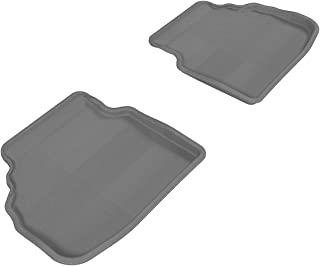 3D MAXpider Second Row Custom Fit All-Weather Floor Mat for Select BMW 7 Series (F01) Models - Kagu Rubber (Gray)