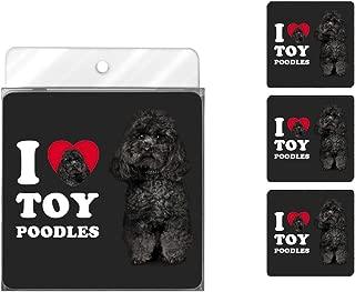 Tree-Free Greetings NC39134 I Heart Toy Poodles 4-Pack Artful Coaster Set