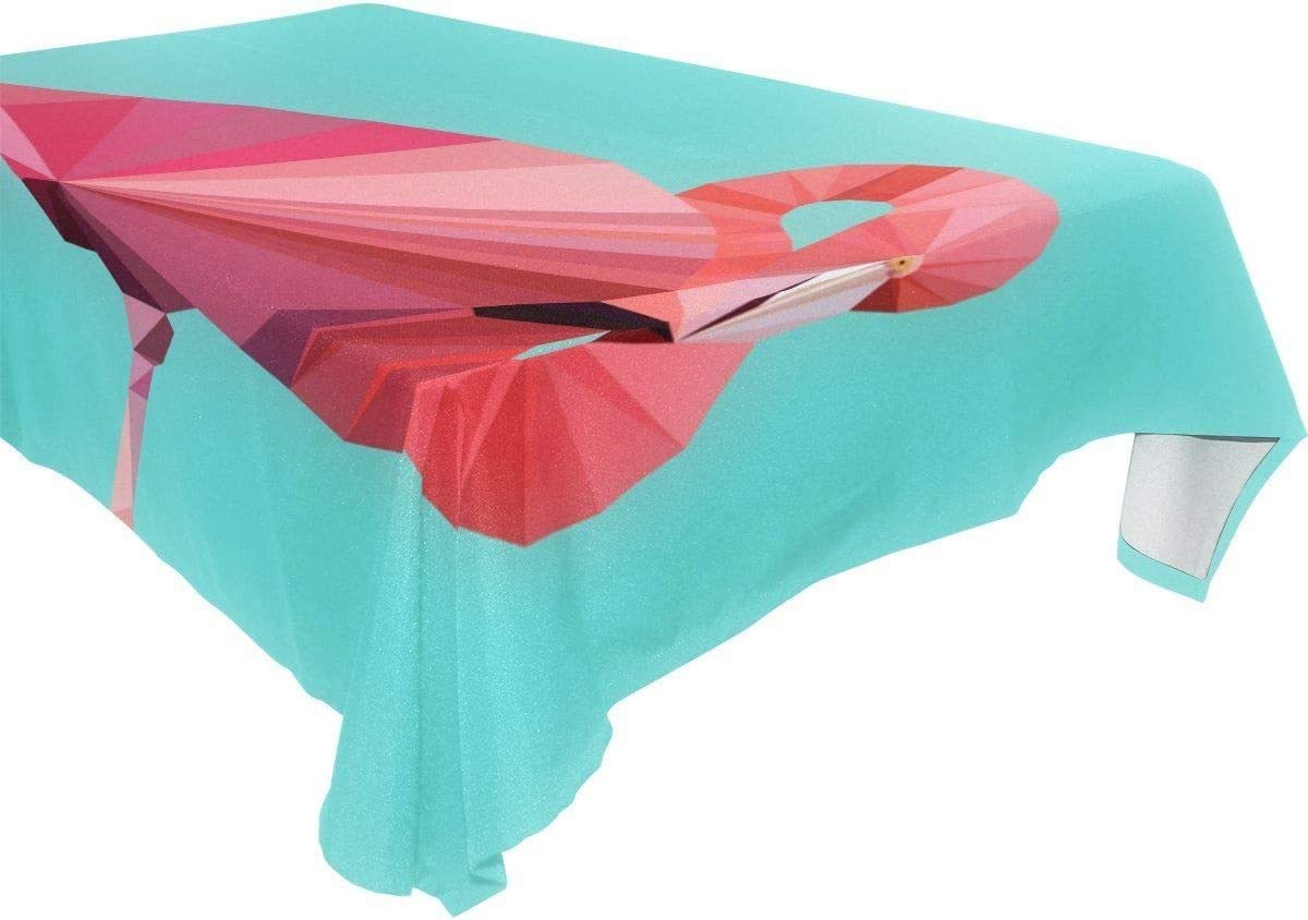 BRT-Style Pink flamingo tablecloth 16495-163 60x84 El Paso Mall famous Model inches