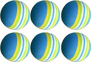 Garneck 10pcs Rainbow Foam Sponge Indoor Practice Golf Balls Training Ball Golf Clubs Equipment (Random Color)