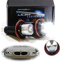 iJDMTOY (2) White LED Angel Eye Ring Marker Bulbs For BMW 5 6 7 Series X3 X5 (E39 E53 E60 E63 E64 E65 E66 E83), 7000K White