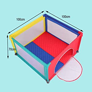 MJY Safety Fence Playpens Toddler Indoor Playyard  Small Nursery Center Game  Security Fence Lightweight Anti-Collision  100 amp Times 100 amp Times 70Cm