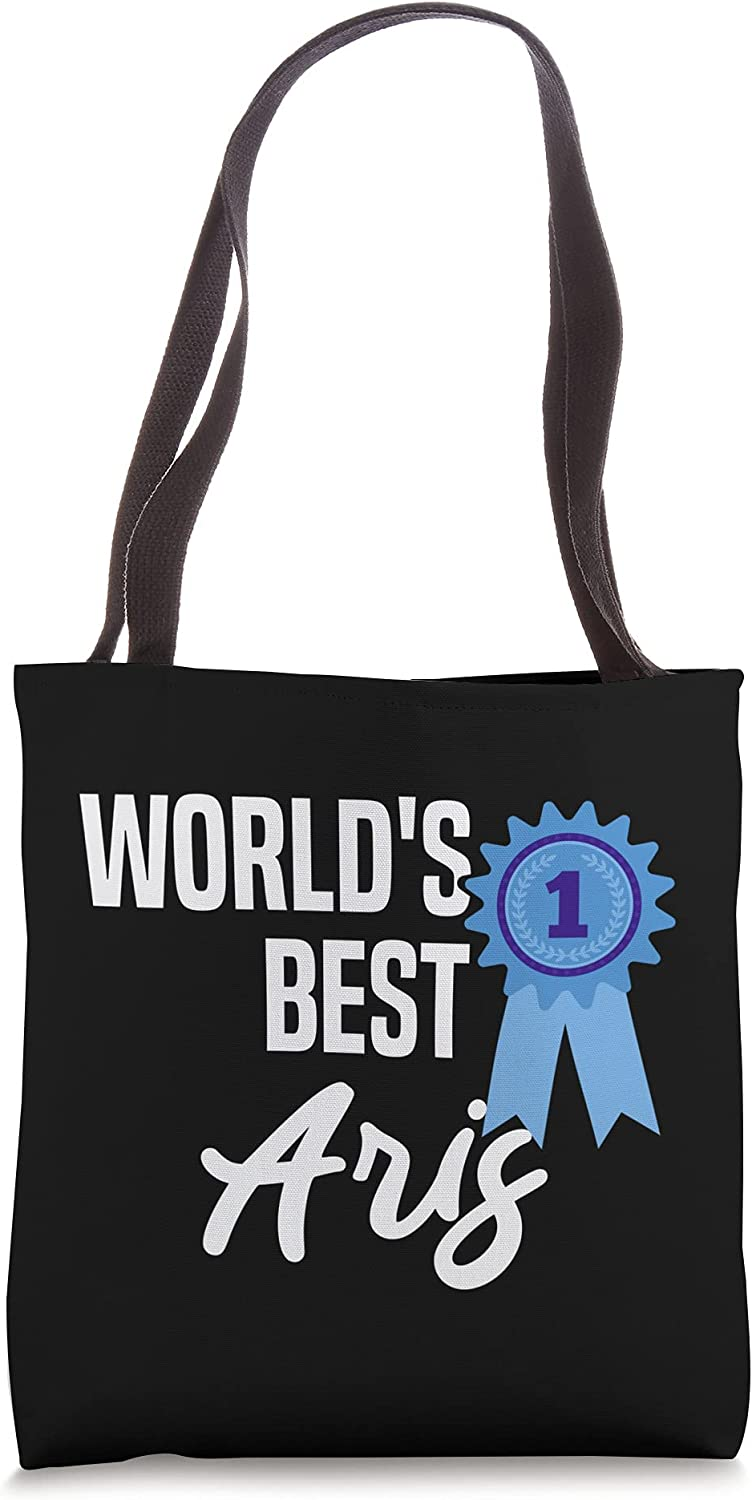 World's Best Aris Name Personalized Tote Bag