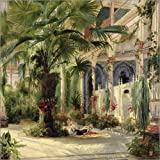 Poster 50 x 50 cm: Innenansicht des Palmenhauses in Potsdam