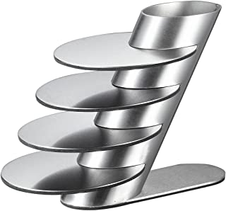 Visol Products Remy Stainless Steel Round Coaster Set with Holder, Chrome
