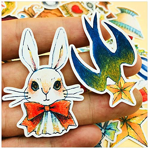 BLOUR cartoon vintage konijntje zwalbe sticker DIY scrapbooking afval album dagboek planner decoratieve sticker 35 stuks/verpakking