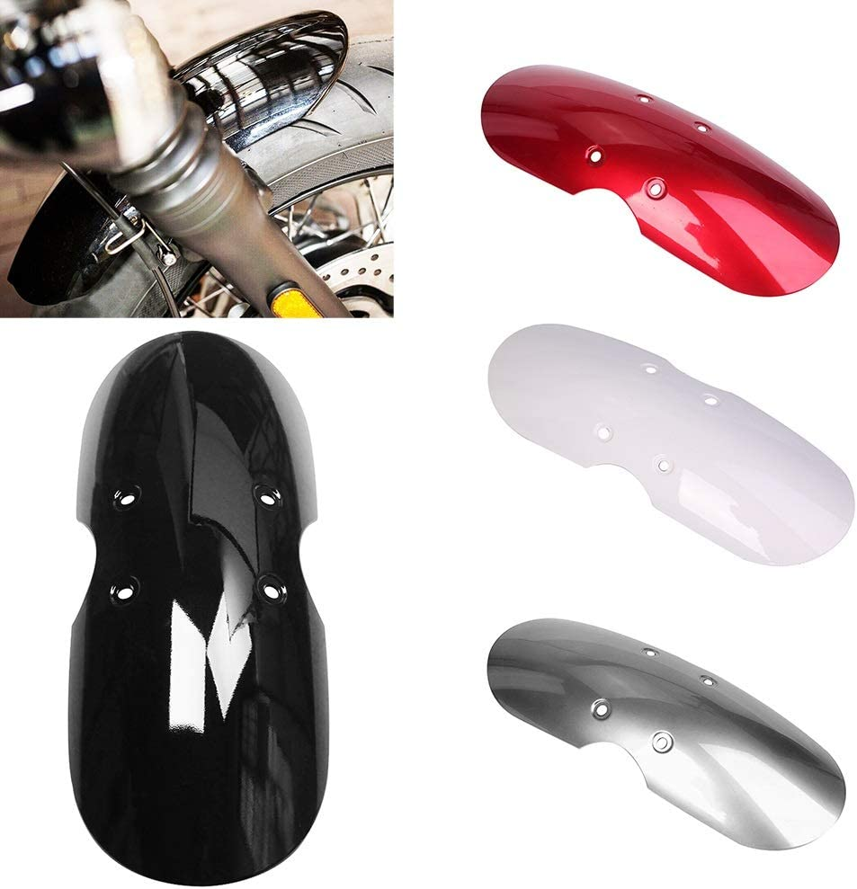 Color : Bright Black 5 Colors Cafe Racer Motorcycle Front Mudguard Fender Mud Guard Fairing Plastic Fender Splash Guard,fit for Triumph Scrambler 01-16