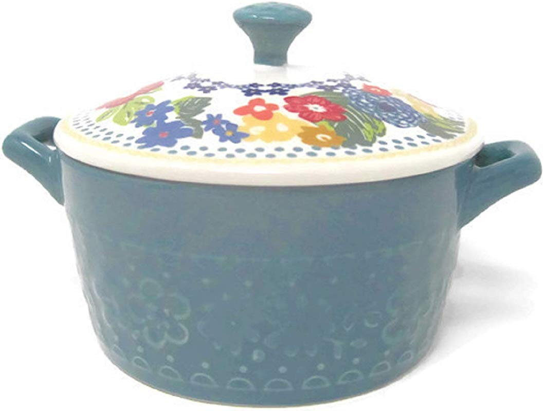 Pioneer Woman Mini Casserole With Lid 14 4 Of Teal
