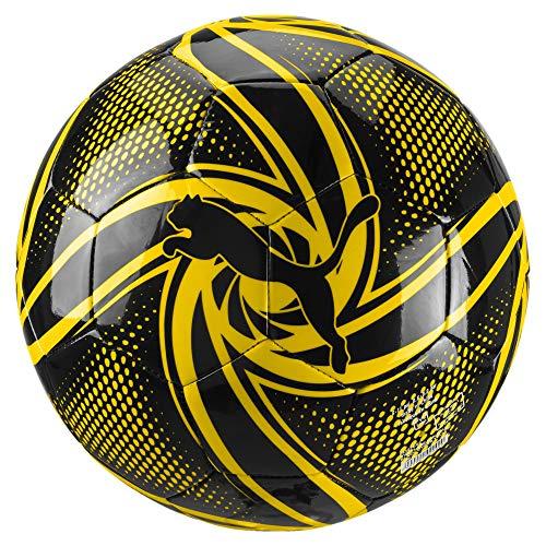 PUMA Unisex– Erwachsene BVB Future Flare Fan Ball Fußball, Black-Cyber Yellow, 5