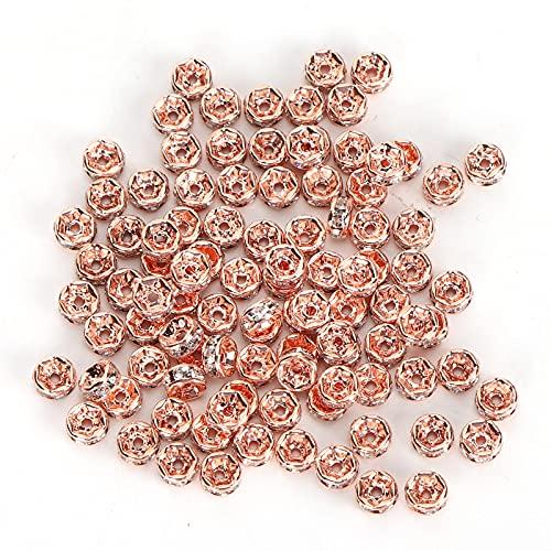 Cuentas espaciadoras de diamantes, cuentas espaciadoras Cuentas separadas Diamante de borde recto para decorar pulseras para hacer joyas de bricolaje para pendientes para collares