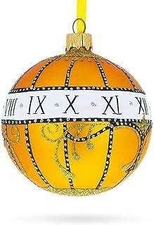 BestPysanky 1899 Madonna Lily Clock Royal Egg Glass Ball Christmas Ornament