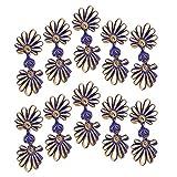 kowaku 5ペアの菊の伝統的なボタンのチャイナコスチューム中国の結び目 - サファイアとゴールド
