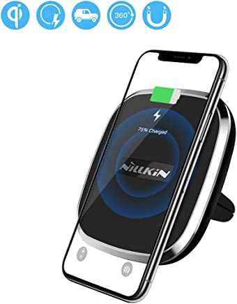 Wireless Charger, Nillkin 2-in-1 Qi Wireless Charging Pad & Magnetic Car Mount Air Vent Holder for iPhone Xs Max/XR/XS/X/8/8 Plus, Samsung Note 9/8/S9/S8/S8 Plus and More - Model A