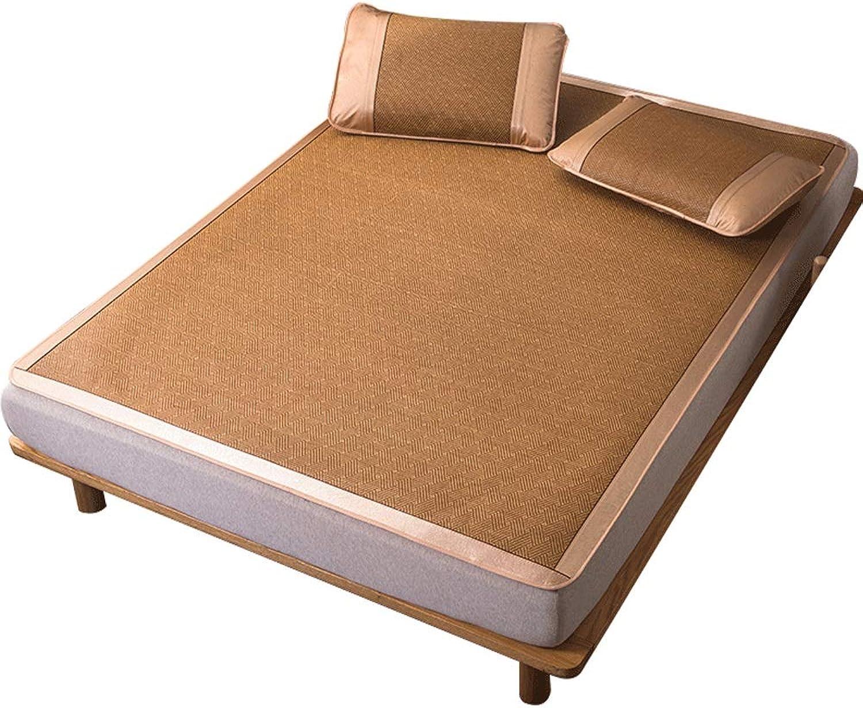 YONG FEI Bamboo Cool Matratze - Summer Ice Silk Rattan Klappsitz mit Kissenbezug - In fünf Gren erhltlich Sommer-Schlafmatte (gre   180X200cm)