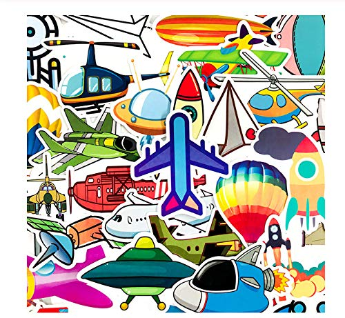 40 Stks/Pak Ruimtevaartuig Vliegtuigen Tool Cartoon Stickers Voor Laptop Bagage Motorfiets Telefoon Skateboard Kids Sticker Speelgoed