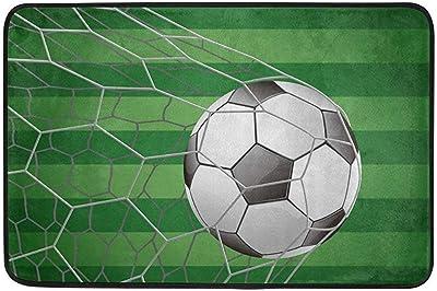 Autisum Balón de fútbol en portería con Felpudo de Campo de Hierba ...