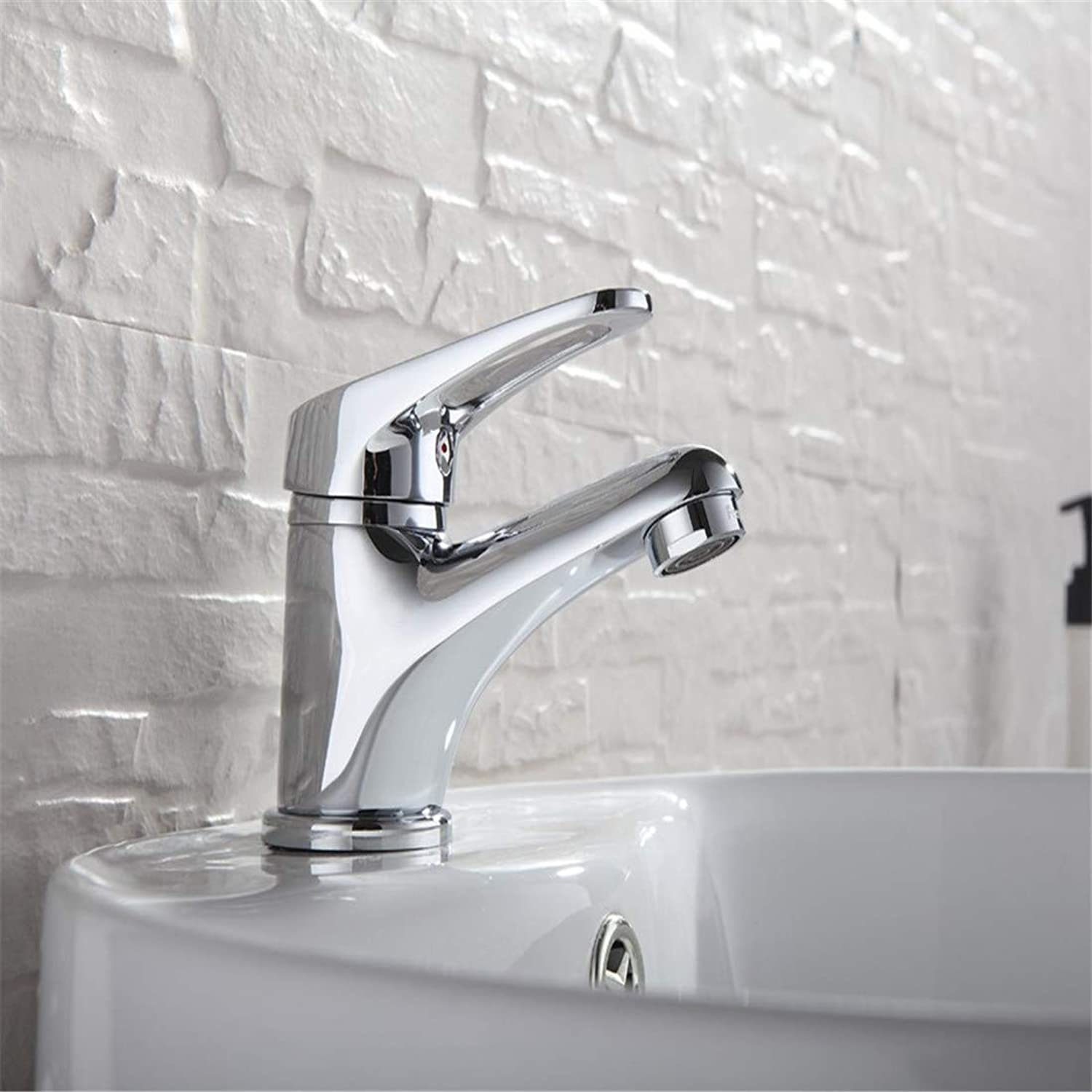 360 Degree redating Solid Brasswhite Faucets Home Bathroom Faucet Basin Mixer Tap Cold-Hot
