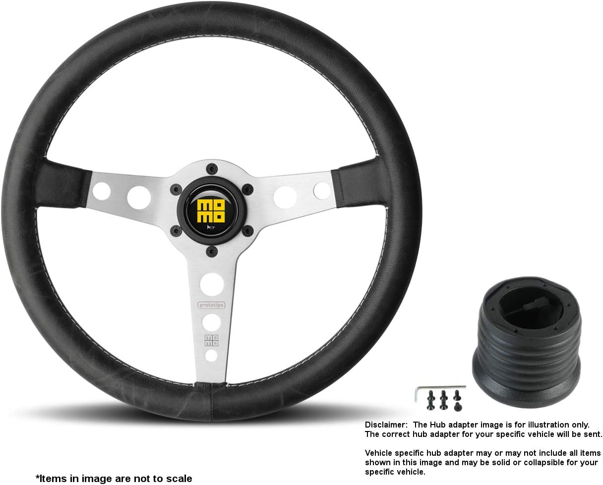 MOMO Heritage 2021 spring Max 50% OFF and summer new Prototipo Silver 350mm Stee Inches 13.78 Leather