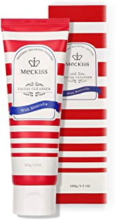 Meckiss Amino Acid Facial Cleanser Foaming Face Wash Ideal for Sensitive Dry Skin Gentle Skin Cleanser 100ML (1 pcs)